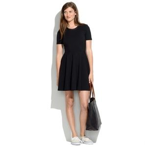 Madewell Leather Trim Dress